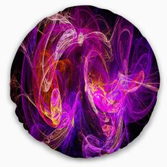 Abstract Colored Smoke Throw Pillow Size: 20