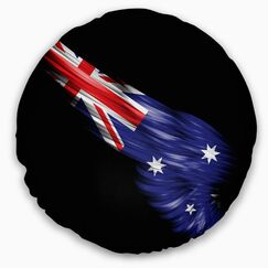 Abstract Wing with Australian Flag Throw Pillow Size: 16