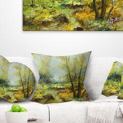 Landscape Deep Forest Pillow Size: 16
