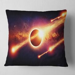 Abstract Space Apocalypse Pillow Size: 26