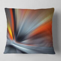 Abstract Rays of Speed Large Lines Pillow Size: 18
