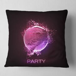 Abstract Party Neon Sign Pillow Size: 16