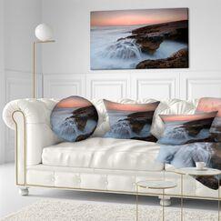 Seashore Waters at the Bridge of Hell Lumbar Pillow
