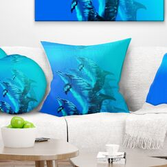 Seascape Dolphin Pillow Size: 26
