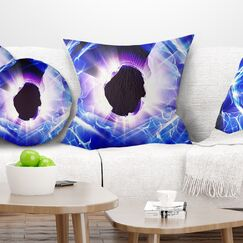 Abstract Fractal Light Shine Pillow Size: 26