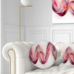 Abstract Tangled Waves Throw Pillow Size: 16