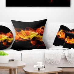 Abstract Vibrant Waves Pillow Size: 18