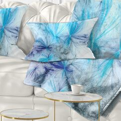 Abstract Christmas Fireworks Lumbar Pillow Color: Blue