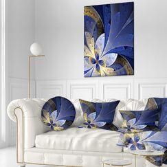 Floral Large Fractal Pattern Throw Pillow Size: 20