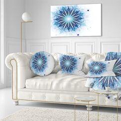 Fractal Flower Digital Art Lumbar Pillow