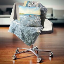 Seascape the Indian Ocean Sea Panorama Pillow Size: 26