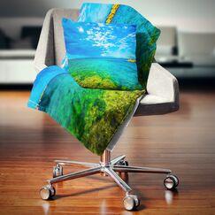 Seascape Picturesque Seashore Pillow Size: 26