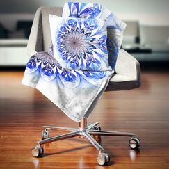 Floral Fractal Flower Digital Art Pillow Size: 16