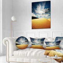 Landscape Sahara Desert Under Clouds Throw Pillow
