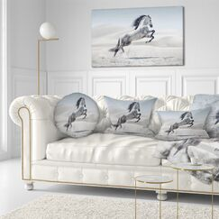 Animal Galloping Horse Lumbar Pillow