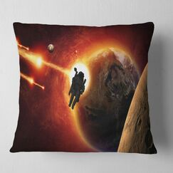 Spacescape Mission to Mars Pillow Size: 18