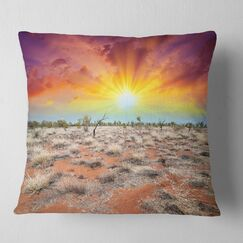 Landscape Beautiful of Earth Pillow Size: 26