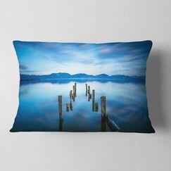 Seascape Deep into the Sea Pier Lumbar Pillow