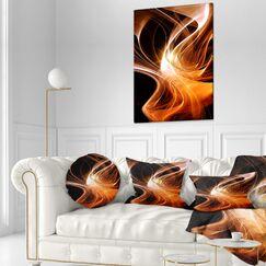 Abstract 3D Shaped Fractal Design Lumbar Pillow