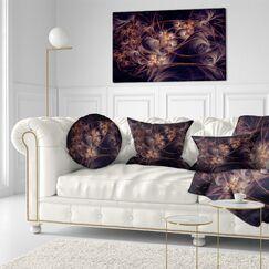 Floral Digital Art Fractal Flower Throw Pillow Size: 20