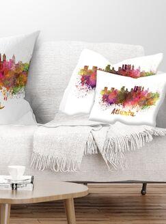 Cityscape Atlanta Skyline Lumbar Pillow
