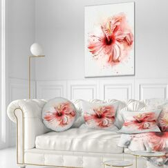 Flowerswork Lovely Watercolor Flower Throw Pillow Size: 16