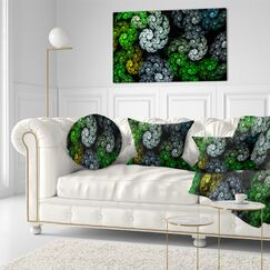 Abstract Bright Exotic Spiral Flowers Lumbar Pillow