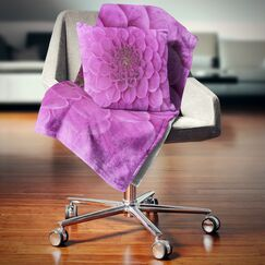 Large Flower and Petals Floral Pillow