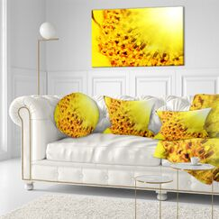 Floral Bright Sunflower Close up Lumbar Pillow