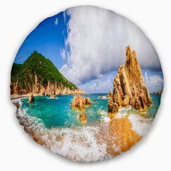 Seashore Scenic Costa Paradiso Throw Pillow Size: 20