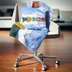 Moving Colorful Boats Pillow Size: 16