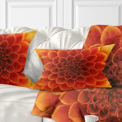 Abstract Flower Petals Lumbar Pillow Color: Orange