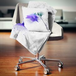Floral Flower Stem with Color Splashes Pillow Size: 18