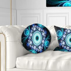 Abstract Fractal Pattern with Circles Throw Pillow Size: 20
