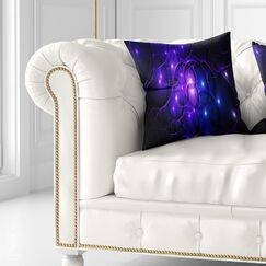 Abstract Fractal Space Circles Pillow Size: 16