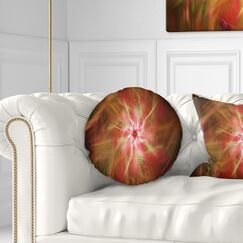 Floral Splaying Bright Fireworks Throw Pillow Size: 20
