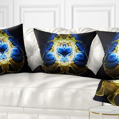 Abstract Large Symmetrical Fractal Heart Pillow Size: 18
