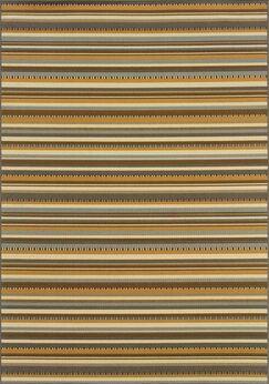 Milltown Grey/Gold Indoor/Outdoor Area Rug Rug Size: Rectangle 7'10