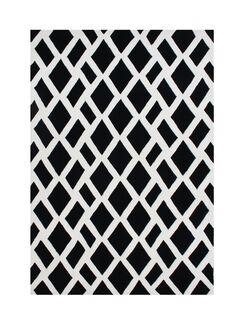 Venator Hand-Tufted Black/White Area Rug Rug Size: Rectangle 8' x 10'