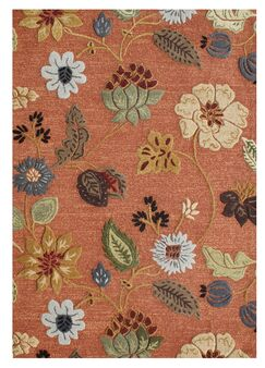Verboort Hand-Tufted Rust Area Rug Rug Size: Rectangle 8' x 10'