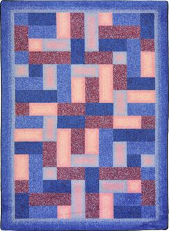 Hand-Tufled Blue/Brown Area Rug Rug Size: 7'8
