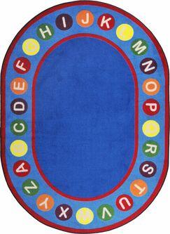 Hand-Tufled Blue/Red Kids Rug Rug Size: Rectangle 5'4