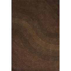 Handmade Brown Area Rug Rug Size: 7'6