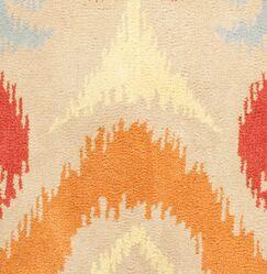 Hand-Tufted Orange/Red Area Rug Rug Size: Round 8'