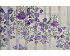 Handmade Ivory/Purple Area Rug Rug Size: Rectangle 10' x 13'