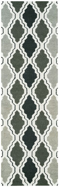 Hand-Tufted Gray Area Rug Rug Size: Runner 2'6
