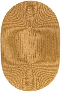 Handmade Vintage Gold Area Rug Rug Size: Oval  5' x 8'