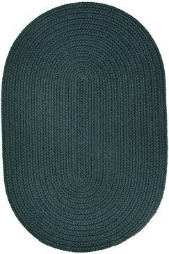 Handmade Spruce Green Indoor/Outdoor Area Rug Rug Size: Oval 8' x 11'
