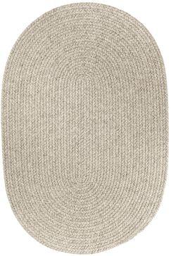Handmade Light Gray Area Rug Rug Size: Oval 10' x 13'
