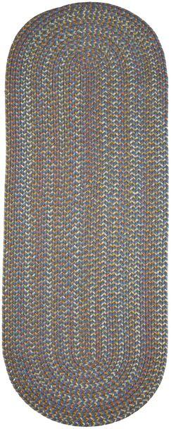 Handmade Blue Indoor/Outdoor Area Rug Rug Size: Oval 8' x 11'